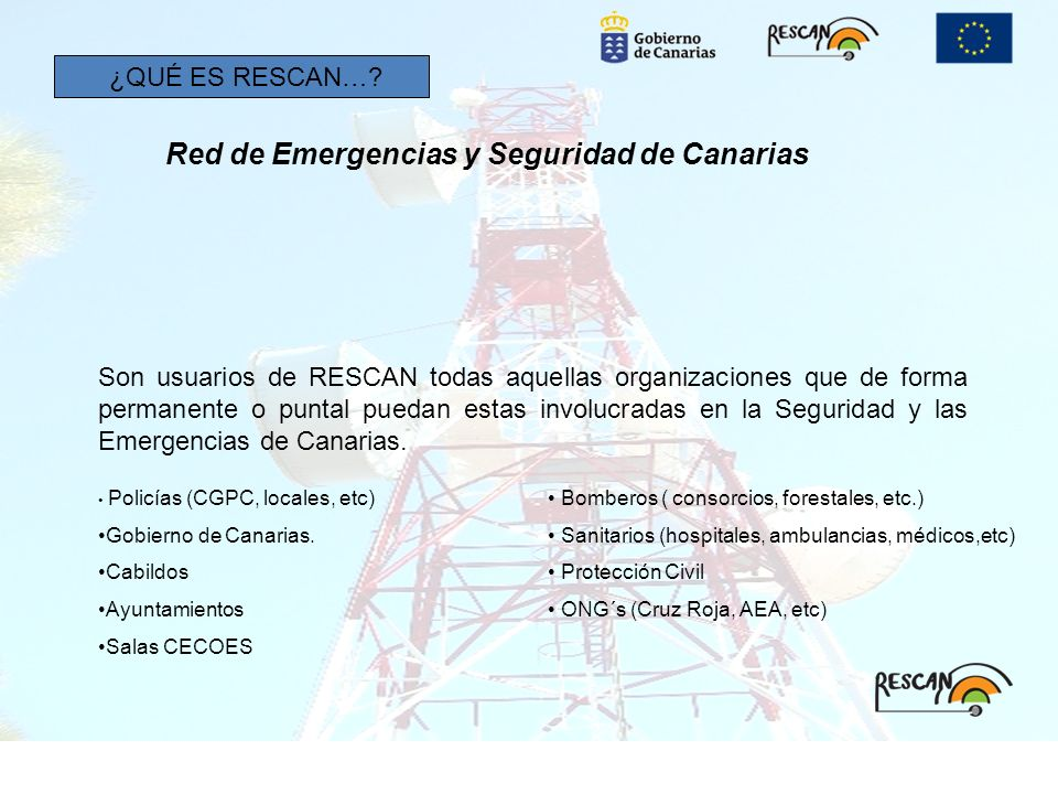 Red de Emergencias y Seguridad de Canarias