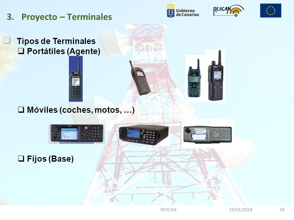 Proyecto – Terminales Tipos de Terminales Portátiles (Agente)