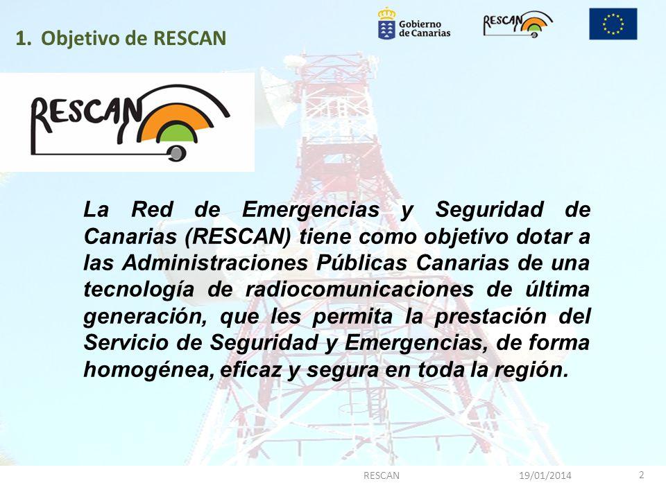 Objetivo de RESCAN 1.