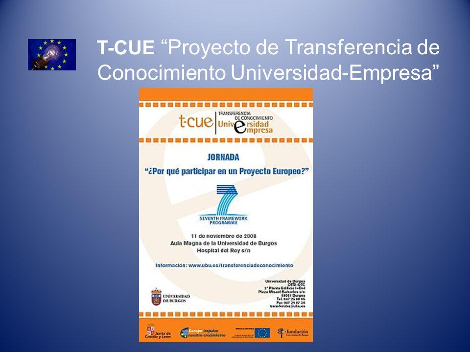 T-CUE Proyecto de Transferencia de Conocimiento Universidad-Empresa