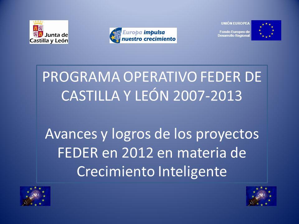 PROGRAMA OPERATIVO FEDER DE CASTILLA Y LEÓN 2007-2013