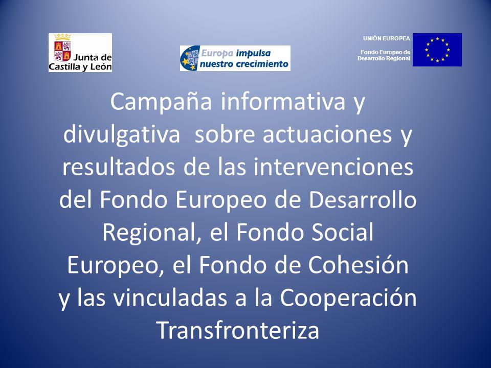 UNIÓN EUROPEA Fondo Europeo de Desarrollo Regional.