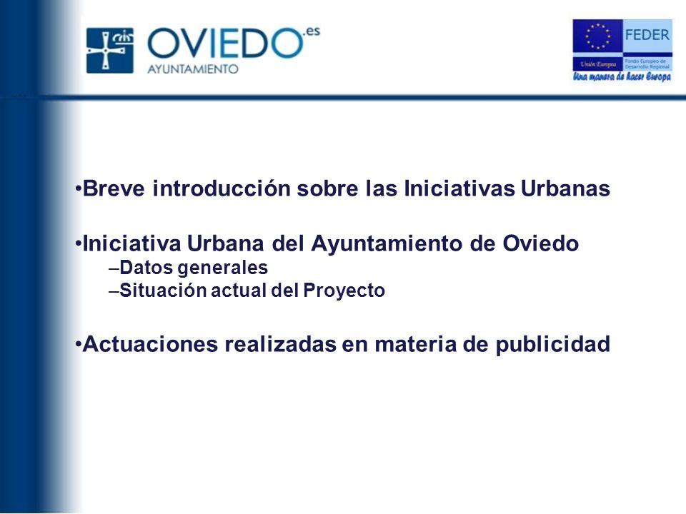 Breve introducción sobre las Iniciativas Urbanas