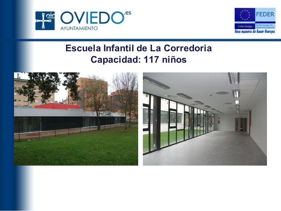 Escuela Infantil de La Corredoria Capacidad: 117 niños