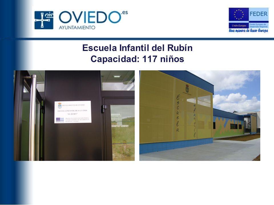 Escuela Infantil del Rubín Capacidad: 117 niños