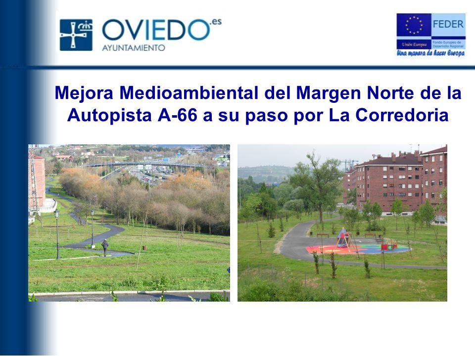 Mejora Medioambiental del Margen Norte de la Autopista A-66 a su paso por La Corredoria