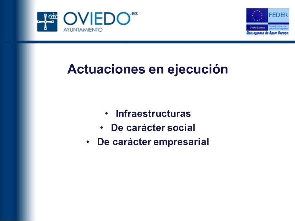 Actuaciones en ejecución De carácter empresarial