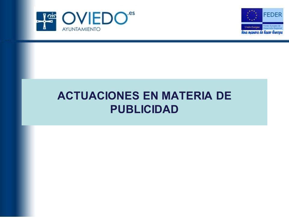 ACTUACIONES EN MATERIA DE PUBLICIDAD