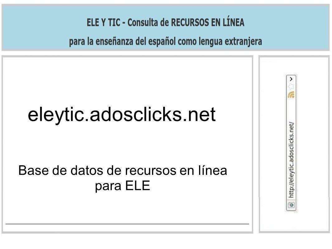 Base de datos de recursos en línea para ELE
