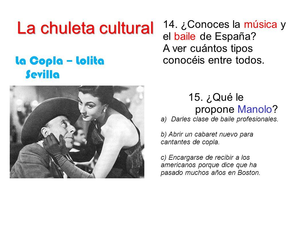 La chuleta cultural La Copla – Lolita Sevilla