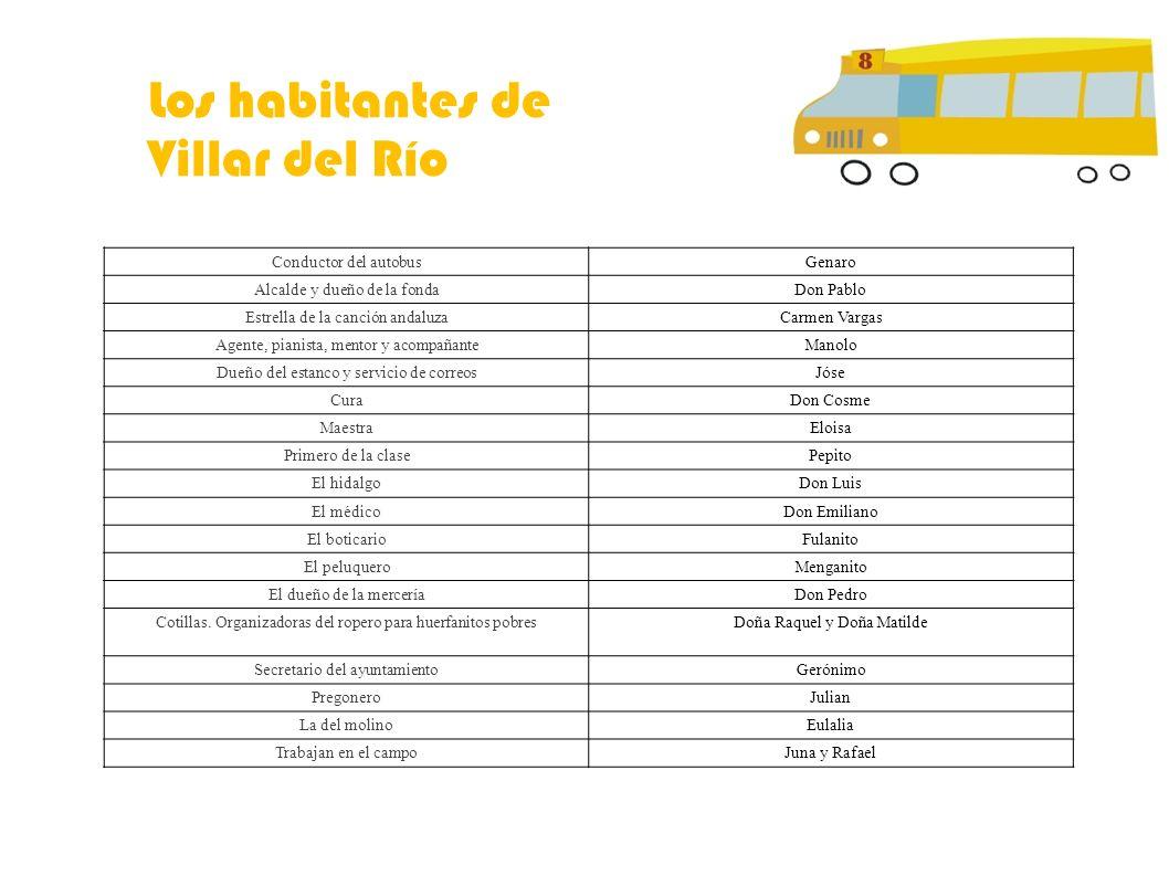 Los habitantes de Villar del Río