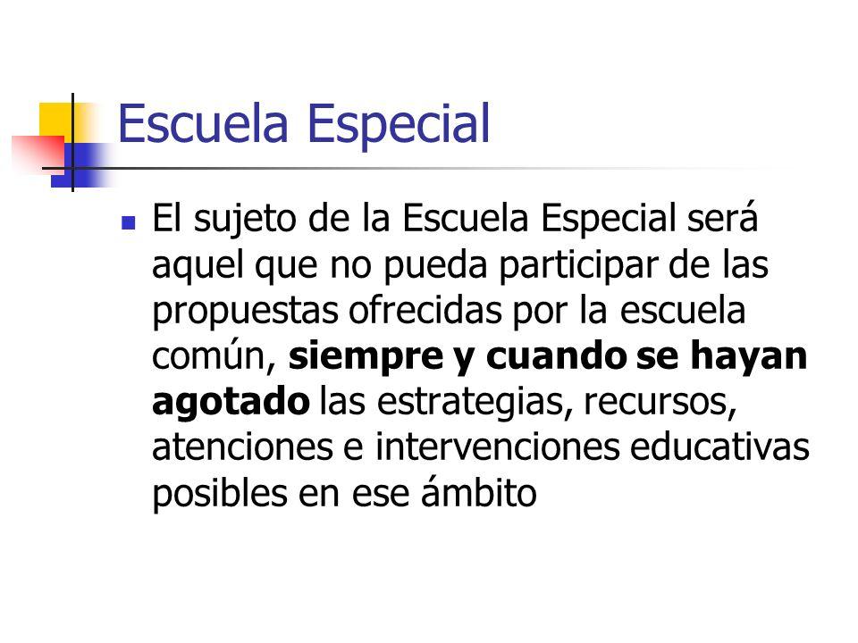Escuela Especial