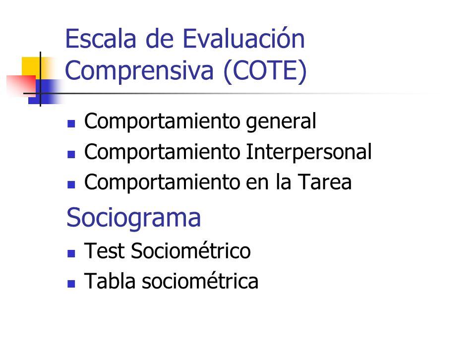 Escala de Evaluación Comprensiva (COTE)