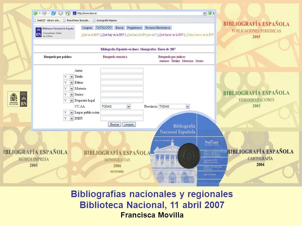 Bibliografías nacionales y regionales