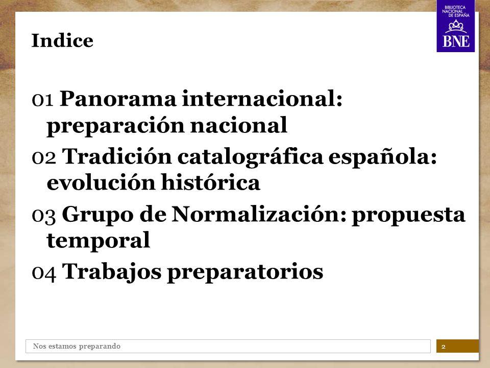 01 Panorama internacional: preparación nacional