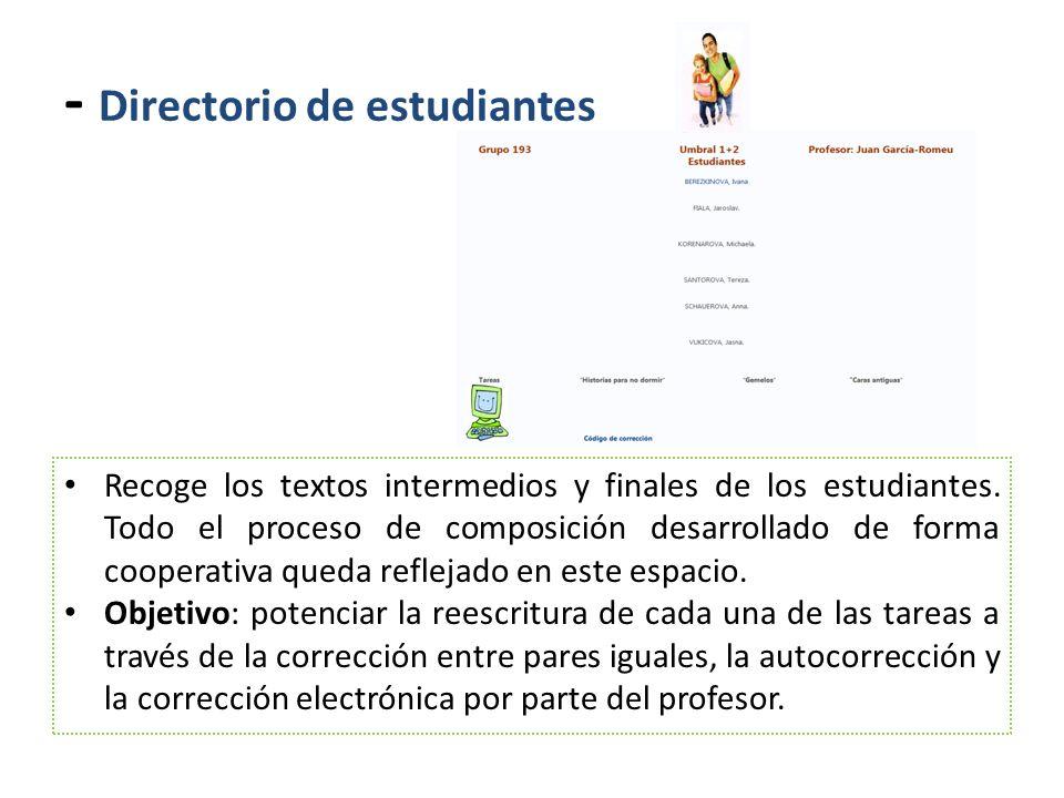 - Directorio de estudiantes