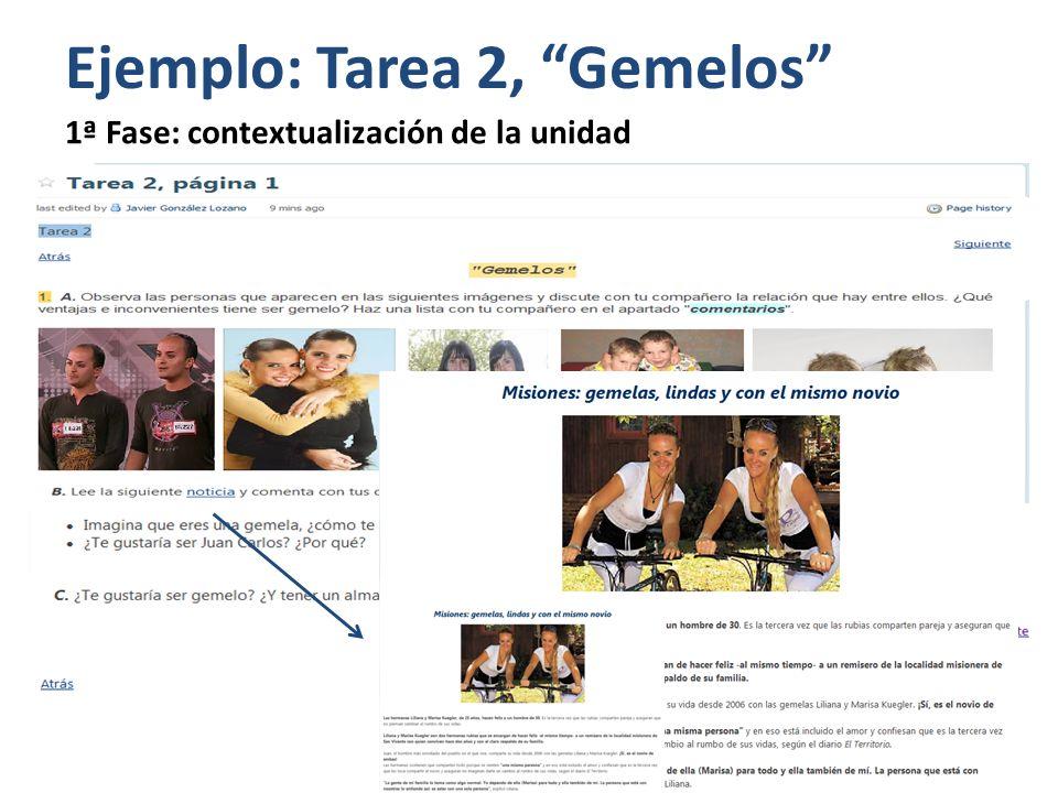Ejemplo: Tarea 2, Gemelos