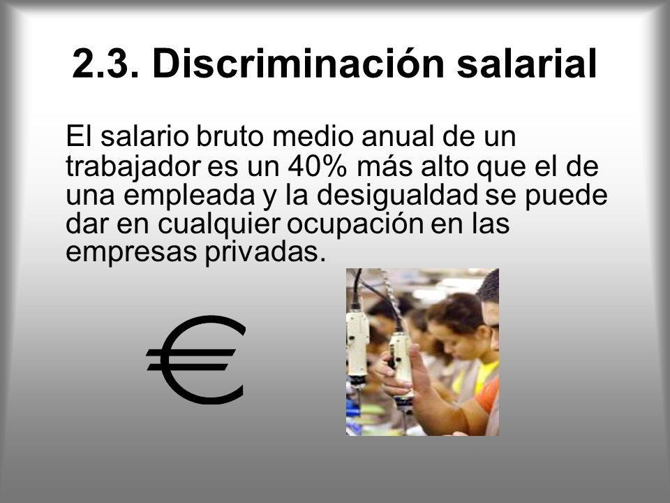 2.3. Discriminación salarial