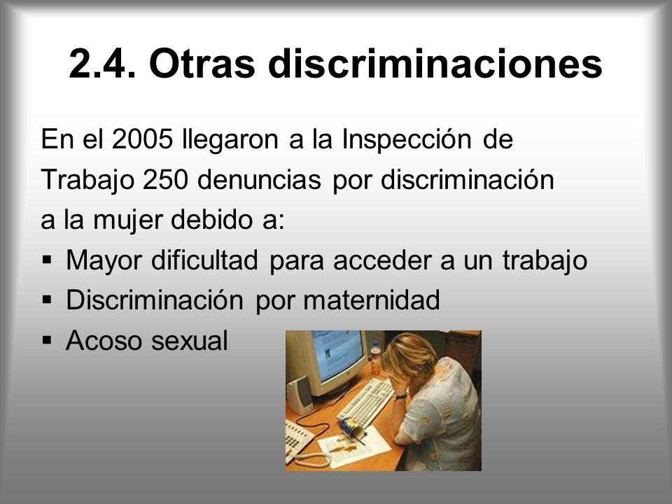 2.4. Otras discriminaciones