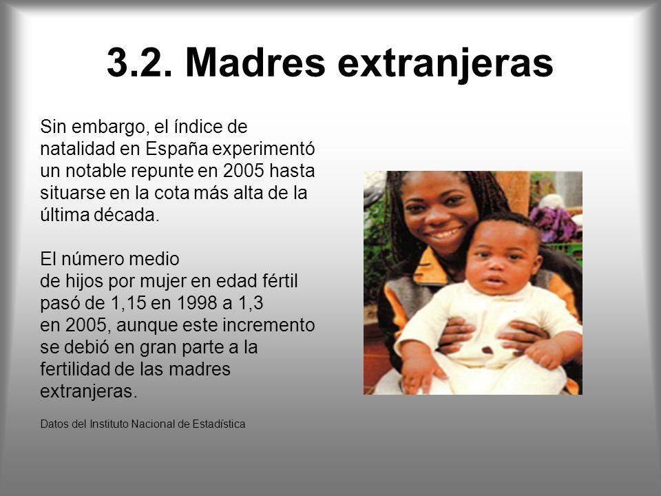 3.2. Madres extranjeras Sin embargo, el índice de
