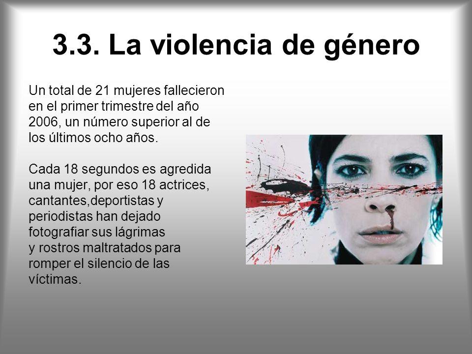 3.3. La violencia de género Un total de 21 mujeres fallecieron