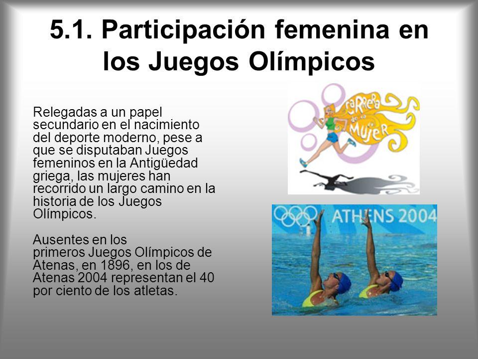 5.1. Participación femenina en los Juegos Olímpicos