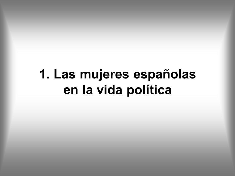 1. Las mujeres españolas en la vida política