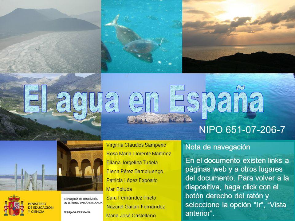El agua en España NIPO 651-07-206-7 Nota de navegación
