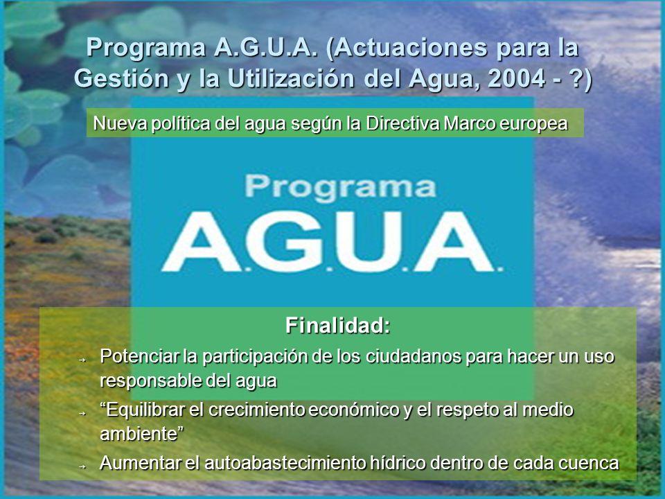 Programa A.G.U.A. (Actuaciones para la Gestión y la Utilización del Agua, 2004 - )