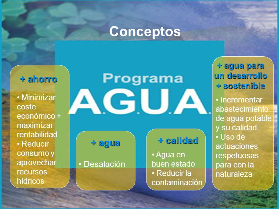 + agua para un desarrollo + sostenible