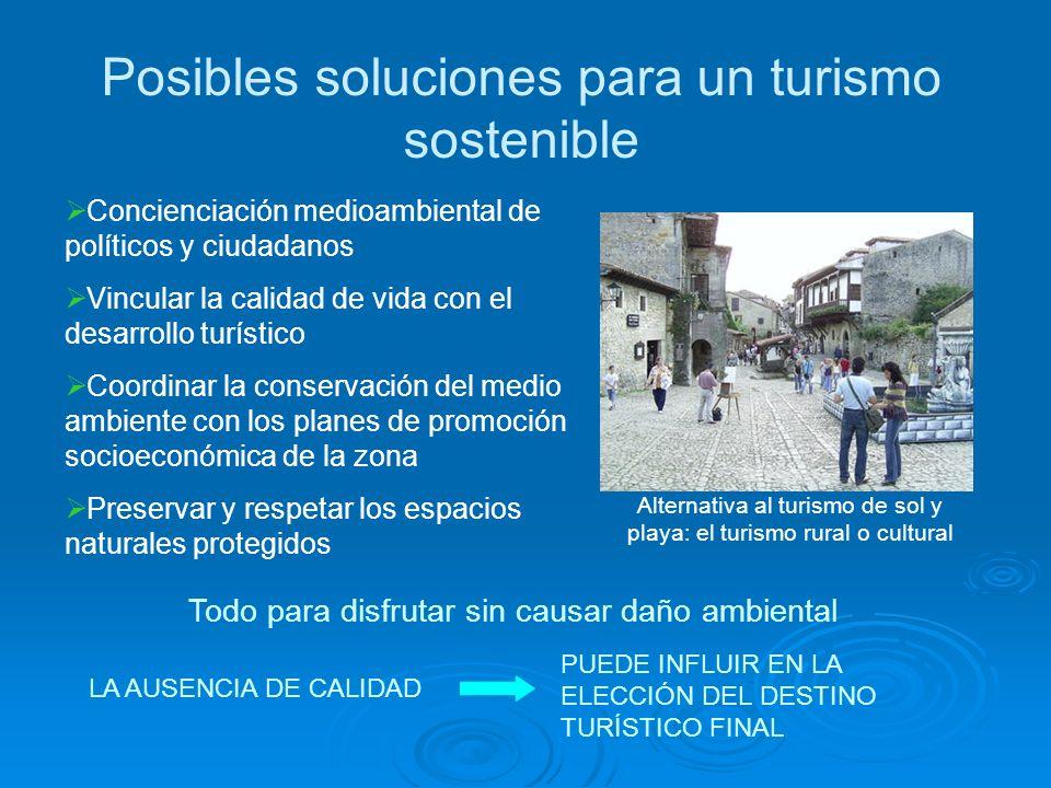 Posibles soluciones para un turismo sostenible
