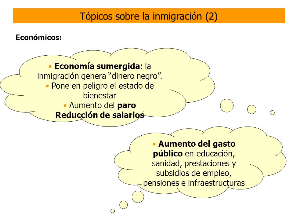 Tópicos sobre la inmigración (2)