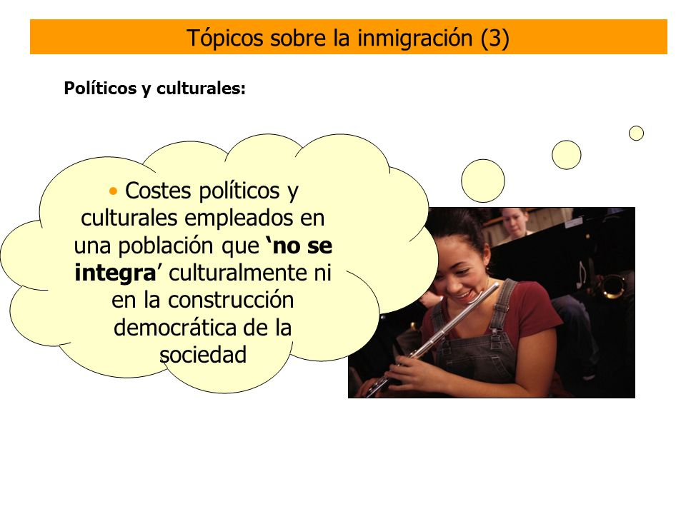 Tópicos sobre la inmigración (3)