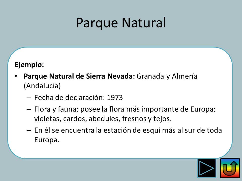 Parque Natural Ejemplo: