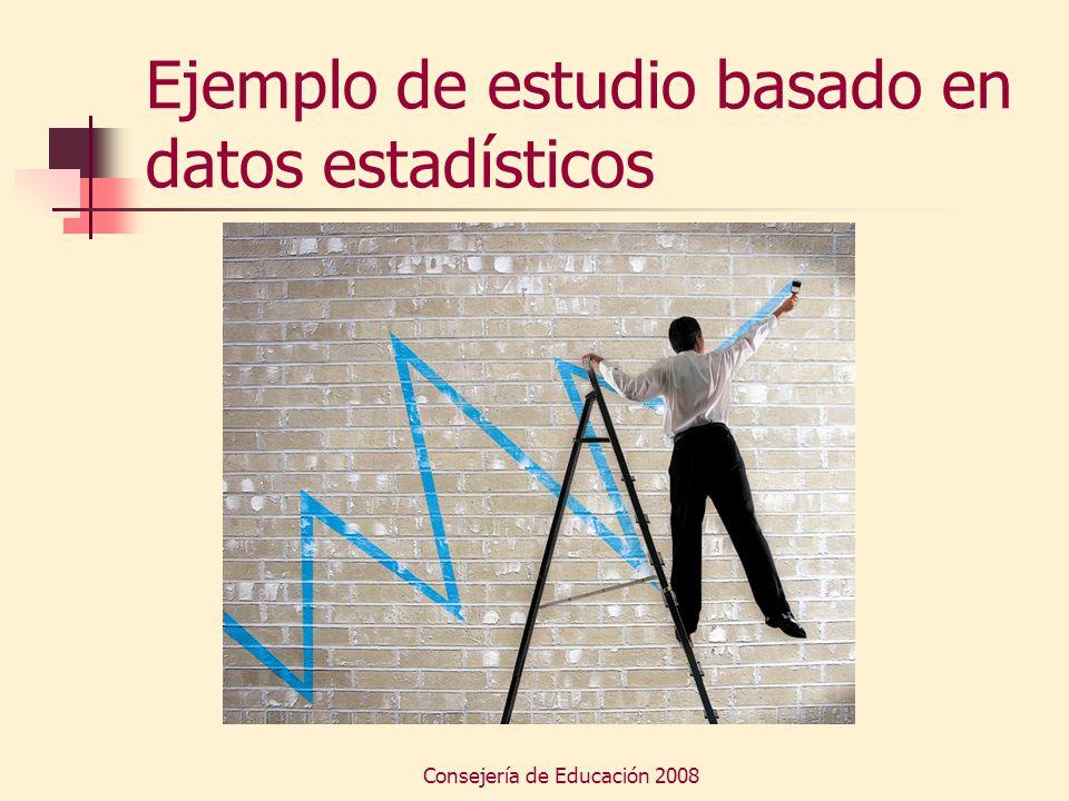 Ejemplo de estudio basado en datos estadísticos