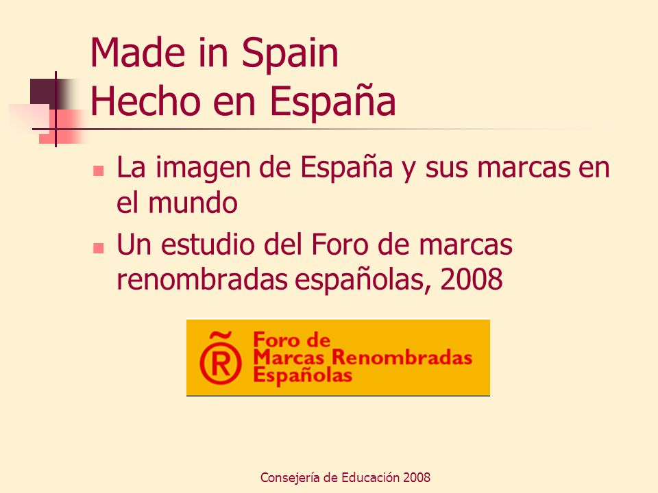 Made in Spain Hecho en España