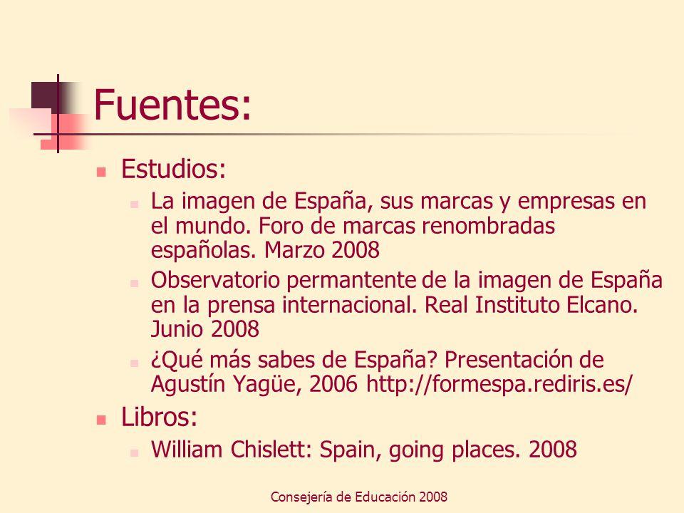 Consejería de Educación 2008