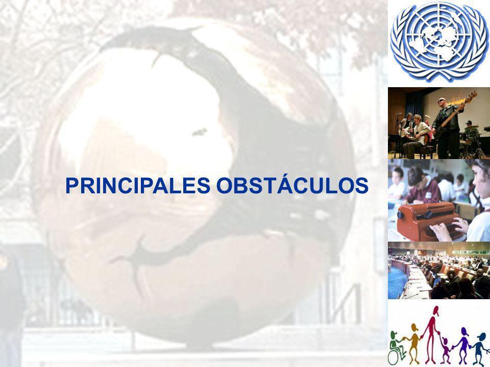 PRINCIPALES OBSTÁCULOS