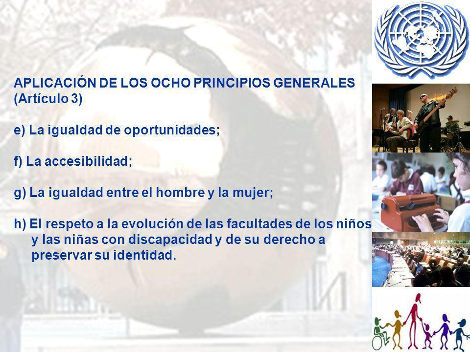 APLICACIÓN DE LOS OCHO PRINCIPIOS GENERALES