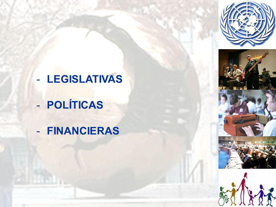 LEGISLATIVAS POLÍTICAS FINANCIERAS