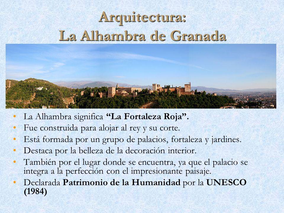 Arquitectura: La Alhambra de Granada