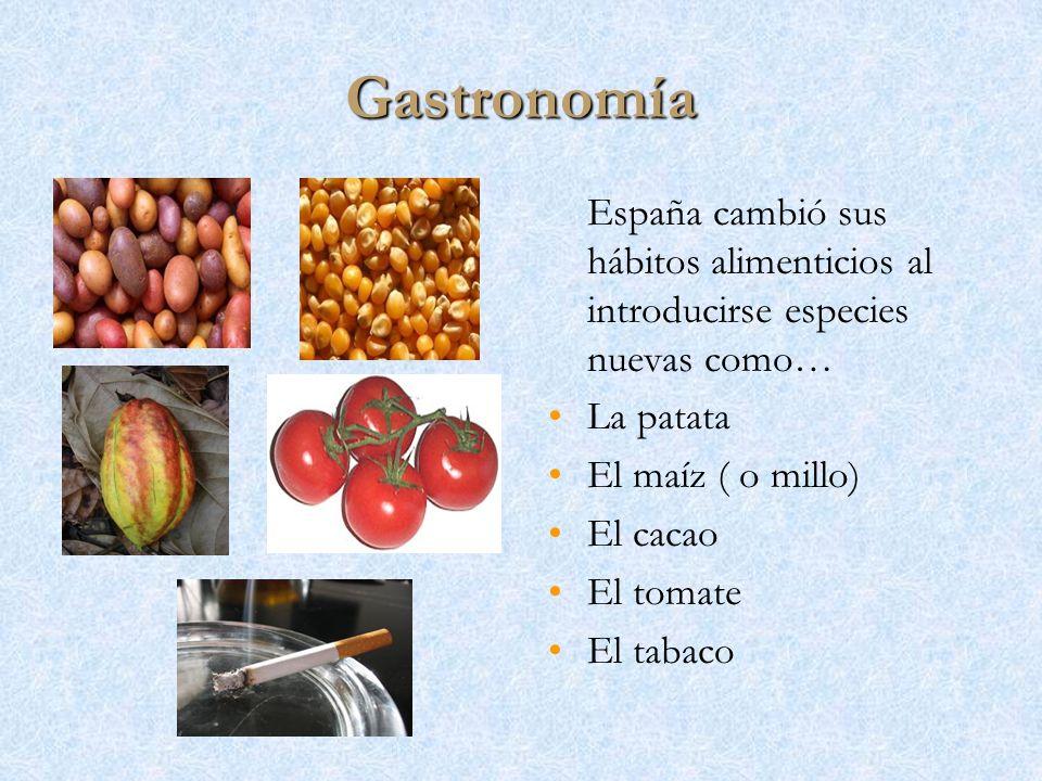 Gastronomía España cambió sus hábitos alimenticios al introducirse especies nuevas como… La patata.