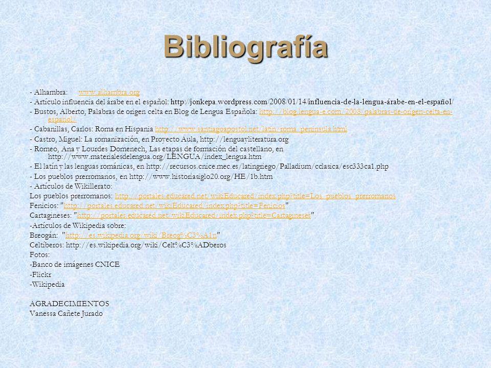 Bibliografía - Alhambra: www.alhambra.org
