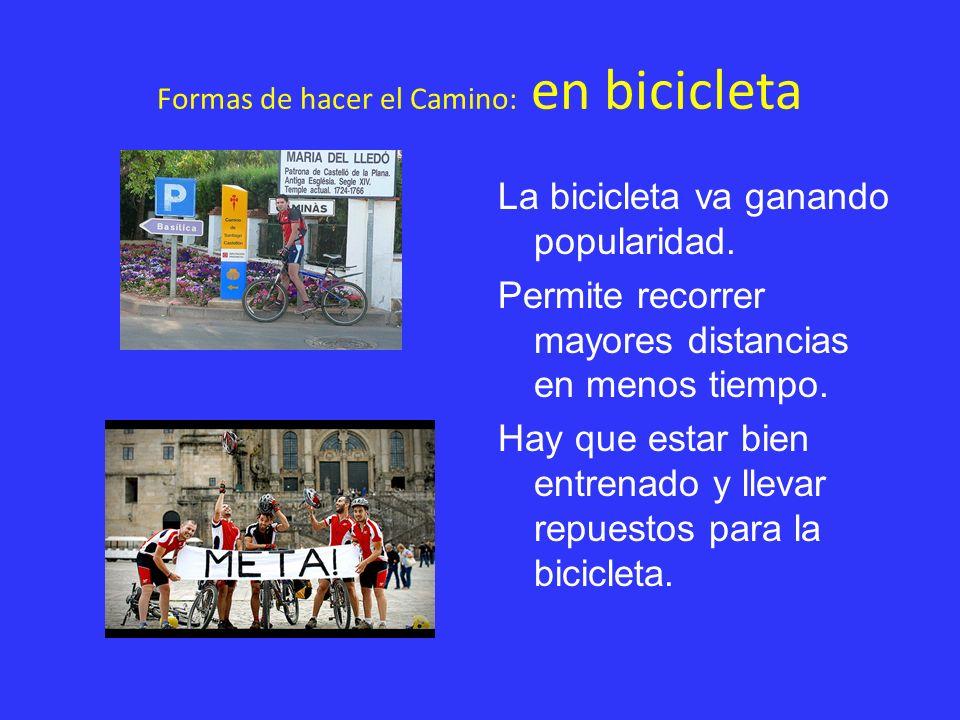 Formas de hacer el Camino: en bicicleta