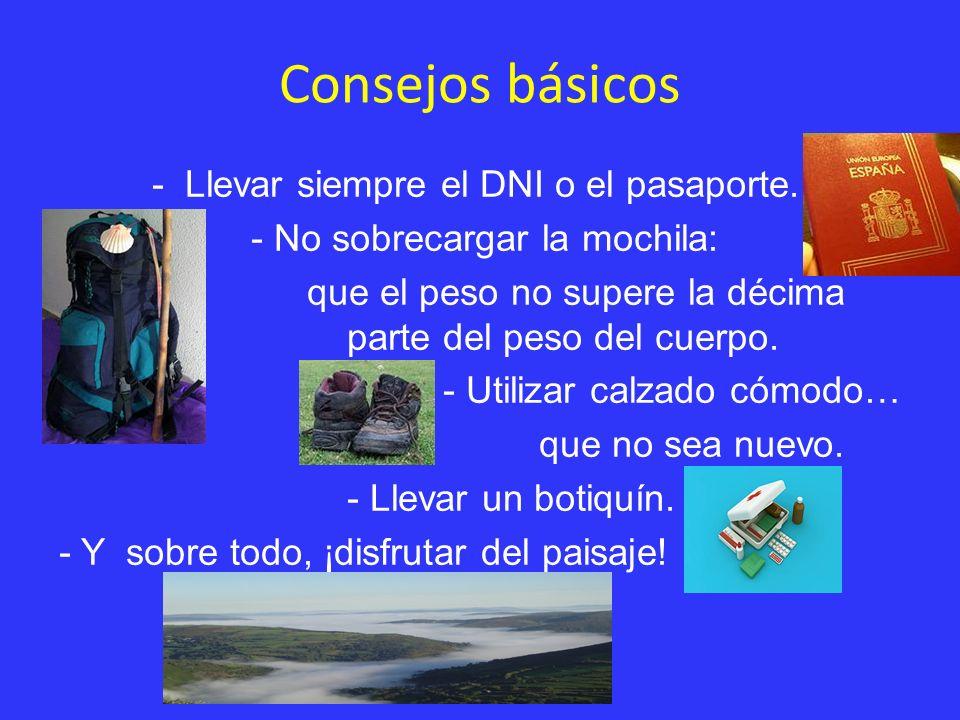 Consejos básicos - Llevar siempre el DNI o el pasaporte.