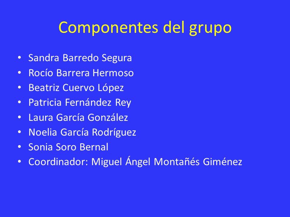 Componentes del grupo Sandra Barredo Segura Rocío Barrera Hermoso