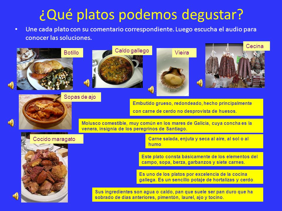 ¿Qué platos podemos degustar