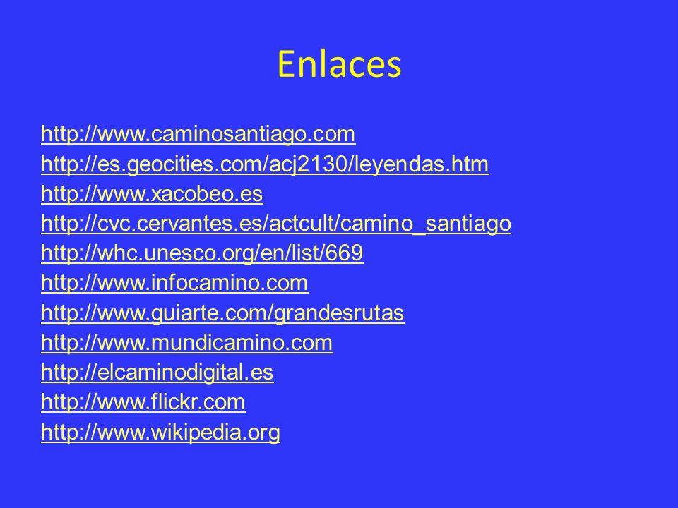 Enlaces http://www.caminosantiago.com