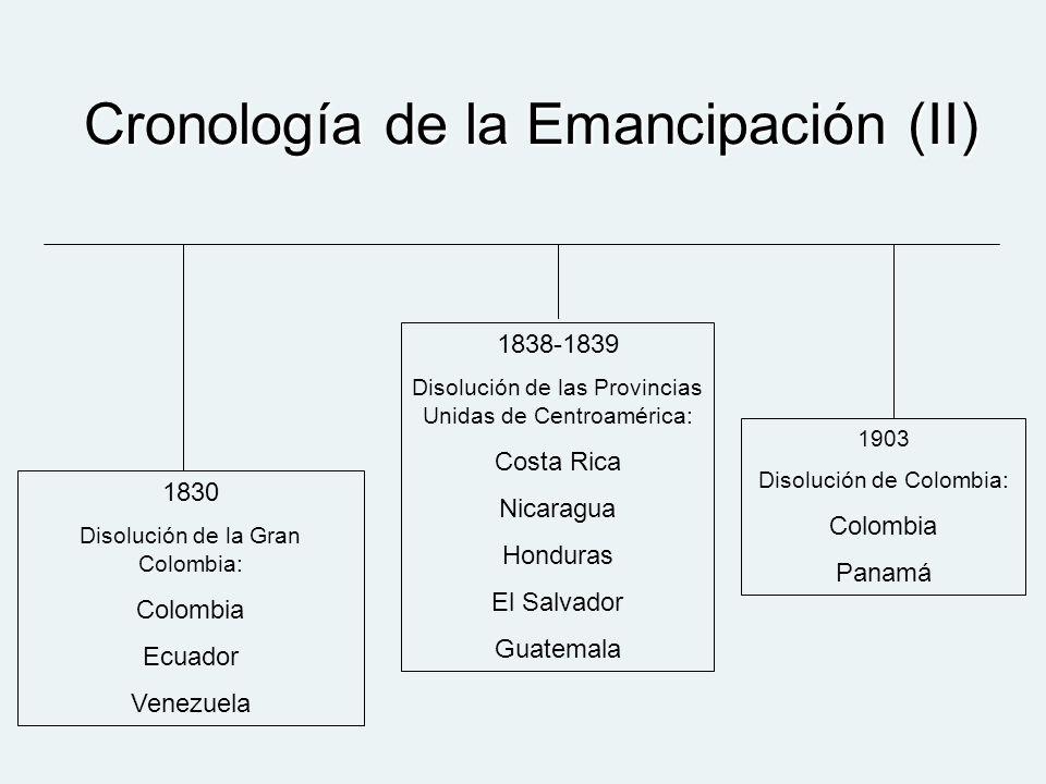Cronología de la Emancipación (II)