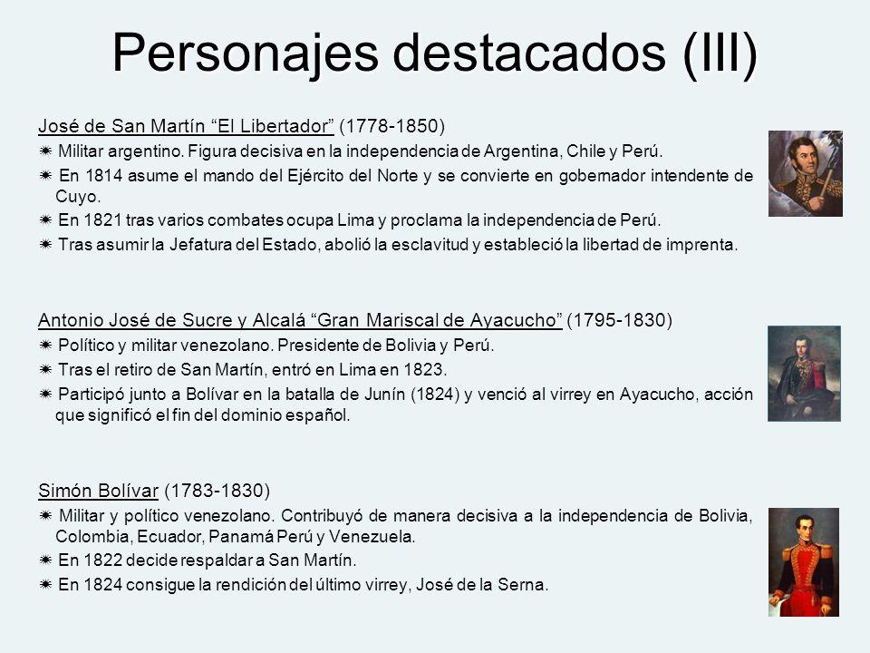Personajes destacados (III)